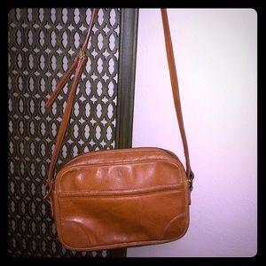 Vintage 80's Ralph Lauren Brown Leather Purse.